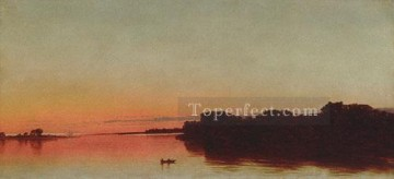 Twilight On The Sound darien Connecticut Luminism seascape John Frederick Kensett Oil Paintings