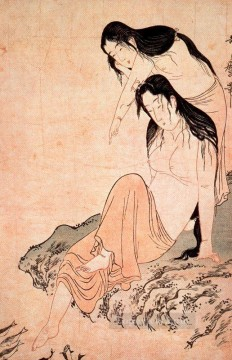 women Painting - nude women and fish Kitagawa Utamaro Ukiyo e Bijin ga