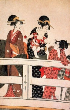 Hour Painting - the hour of the horse Kitagawa Utamaro Ukiyo e Bijin ga