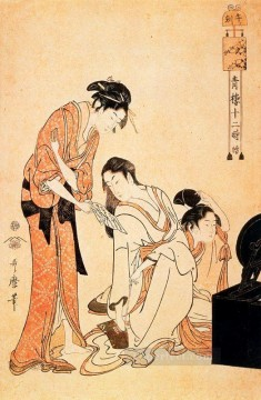 on - the hour of the monkey Kitagawa Utamaro Ukiyo e Bijin ga
