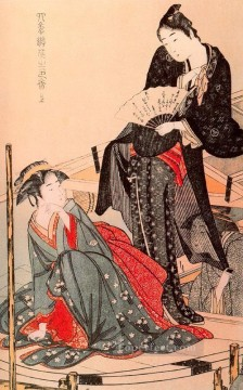 on - Stylish Amusements of the Four Seasons Kitagawa Utamaro Ukiyo e Bijin ga