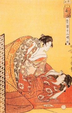 on - the hour of the dragon 1 Kitagawa Utamaro Ukiyo e Bijin ga