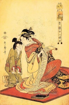 on - the hour of the dragon Kitagawa Utamaro Ukiyo e Bijin ga