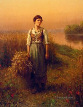 Night Art - Normandy Maid countrywoman Daniel Ridgway Knight