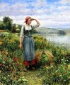 A Field of Flowers countrywoman Daniel Ridgway Knight