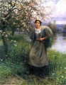 Apple Blossoms in Normandy countrywoman Daniel Ridgway Knight