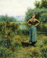 Girl in a Landscape countrywoman Daniel Ridgway Knight
