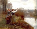 Hailing the Ferryman countrywoman Daniel Ridgway Knight