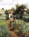 In the Garden countrywoman Daniel Ridgway Knight