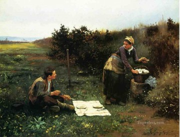 Daniel Ridgway Knight Painting - The Honeymoon Breakfast countrywoman Daniel Ridgway Knight