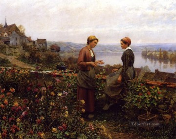 Gossiping countrywoman Daniel Ridgway Knight Oil Paintings