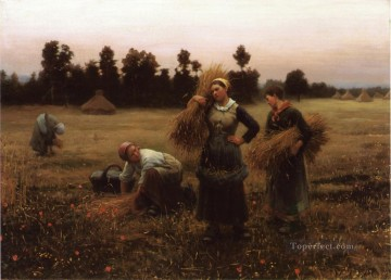 Daniel Ridgway Knight Painting - The Harvesters countrywoman Daniel Ridgway Knight