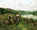 The Seine at Vernon countrywoman Daniel Ridgway Knight