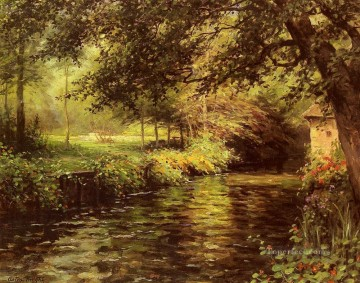 Louis Aston Knight Painting - A Sunny Morning at Beaumont Le Roger Louis Aston Knight