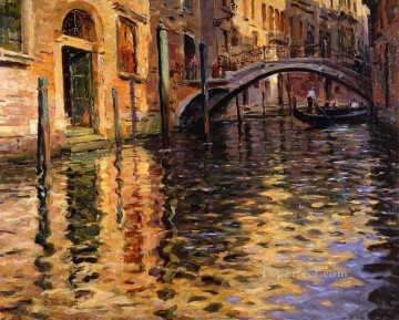 Louis Aston Knight Painting - Pont del angelo venice Louis Aston Knight