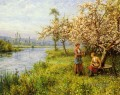 Country Women After Fishing On A Summers Day Louis Aston Knight