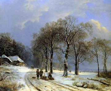 Winter Landscape Dutch Barend Cornelis Koekkoek Oil Paintings