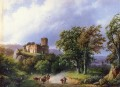 Dutch 1803 to 1862 The Ruined Castle Dutch landscape Barend Cornelis Koekkoek