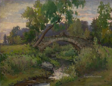 Artworks by 350 Famous Artists Painting - Bridge in Pavlovsk Park Konstantin Somov