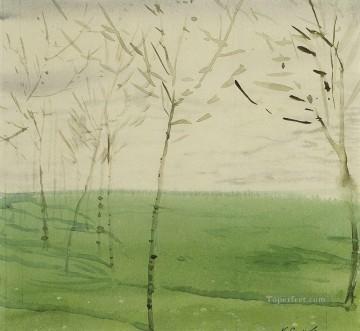 Artworks by 350 Famous Artists Painting - spring landscape Konstantin Somov_1