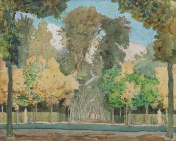 Artworks by 350 Famous Artists Painting - versailles park in autumn Konstantin Somov