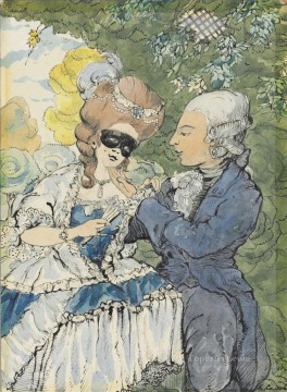 Artworks by 350 Famous Artists Painting - Masquerade 3 Konstantin Somov
