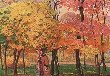 Artworks by 350 Famous Artists Painting - autumn Konstantin Somov