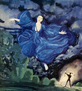 Artworks by 350 Famous Artists Painting - blue bird Konstantin Somov