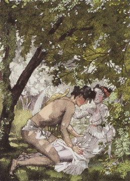 Artworks by 350 Famous Artists Painting - illustration to the novel daphnis and chloe 2 Konstantin Somov