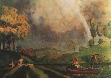 Konstantin Somov Painting - in the summer Konstantin Somov