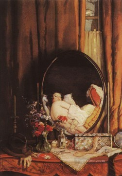 Artworks by 350 Famous Artists Painting - intimate reflection in mirror on dressing table Konstantin Somov