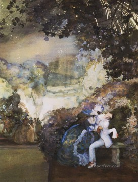 Artworks by 350 Famous Artists Painting - lady and pierrot 1910 Konstantin Somov