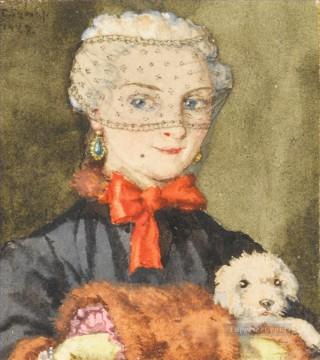 PD Art - lady with lapdog Konstantin Somov