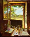 open door on a garden Konstantin Somov