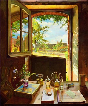 Artworks by 350 Famous Artists Painting - open door on a garden Konstantin Somov