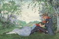 Painful confession Konstantin Somov romantic lover
