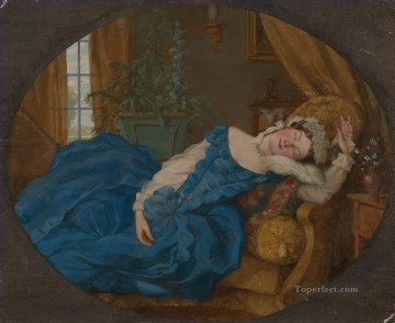 Artworks by 350 Famous Artists Painting - Sleeping Lady Konstantin Somov