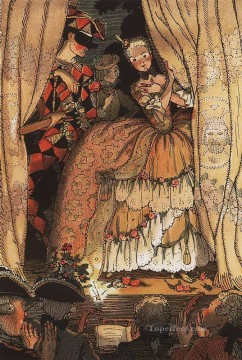Artworks by 350 Famous Artists Painting - book of the marquise illustration 1 Konstantin Somov