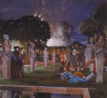 Artworks by 350 Famous Artists Painting - holiday near venice Konstantin Somov