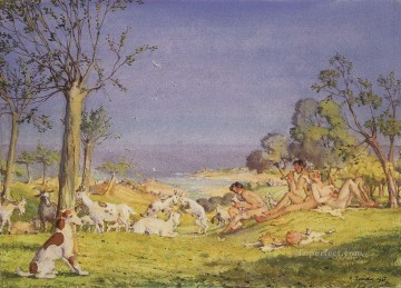 Artworks by 350 Famous Artists Painting - illustration to the novel daphnis and chloe 1 Konstantin Somov