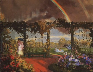 landscape Painting - landscape with a rainbow 1915 Konstantin Somov