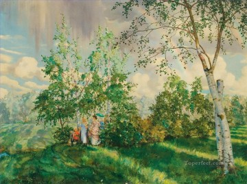 Artworks by 350 Famous Artists Painting - the rainbow Konstantin Somov