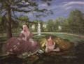 two ladies in the park Konstantin Somov