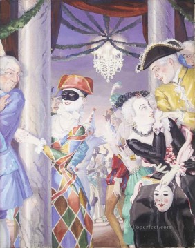 Artworks by 350 Famous Artists Painting - CARNIVAL Konstantin Somov