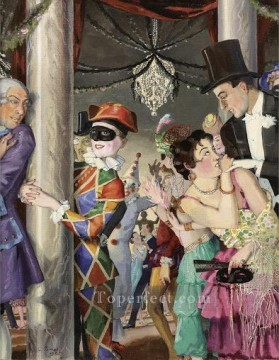 Artworks by 350 Famous Artists Painting - MASQUERADE 2 Konstantin Somov