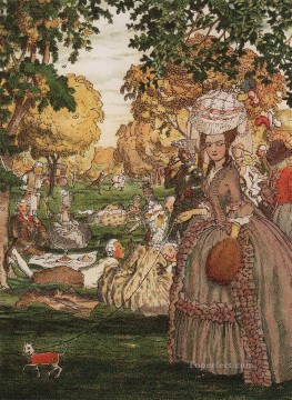 Artworks by 350 Famous Artists Painting - book of the marquise illustration 6 Konstantin Somov