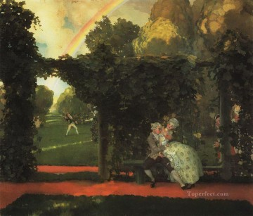 Konstantin Somov Painting - the laughed kiss 1909 Konstantin Somov