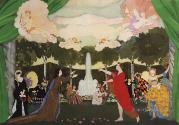 Artworks by 350 Famous Artists Painting - the curtain sketch for free theater in moscow Konstantin Somov