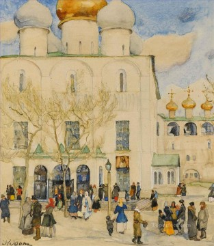 Artworks by 350 Famous Artists Painting - FIRST DAY OF EASTER Konstantin Yuon