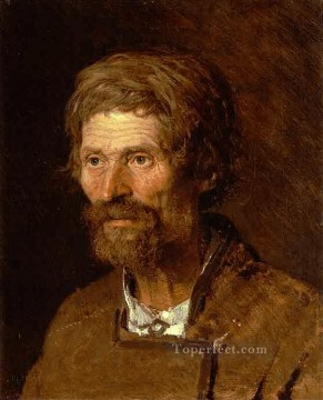 Ivan Art - Head of an Old Ukranian Peasant Democratic Ivan Kramskoi